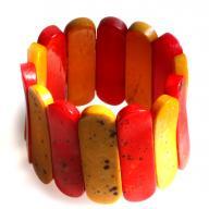 золотисто-красный браслет из пластин из кости_Индия